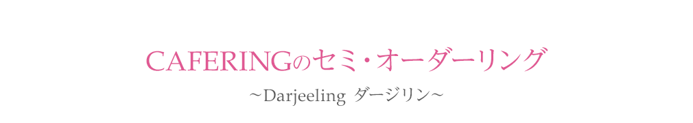 Cafe Ringのセミ・オーダーリング〜Darjeeling ダージリン〜