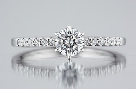 ダイヤモンドリングの上品な輝き