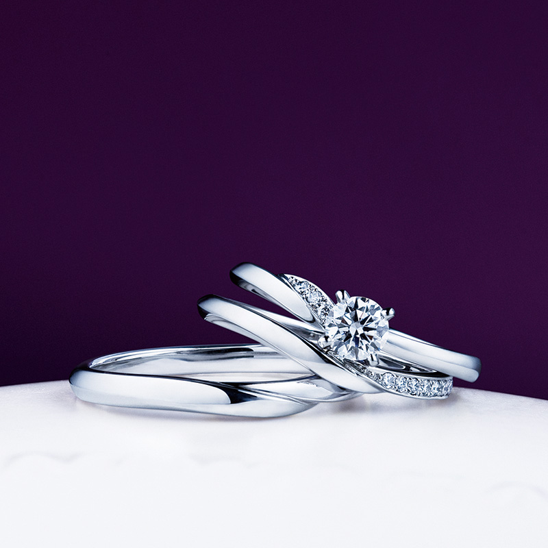 NIWAKAの婚約指輪・結婚指輪をお作り頂きました。