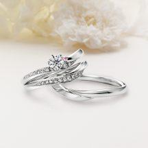 Ailes(エール)  クワンドゥマリアージュの婚約指輪、結婚指輪のセットリング