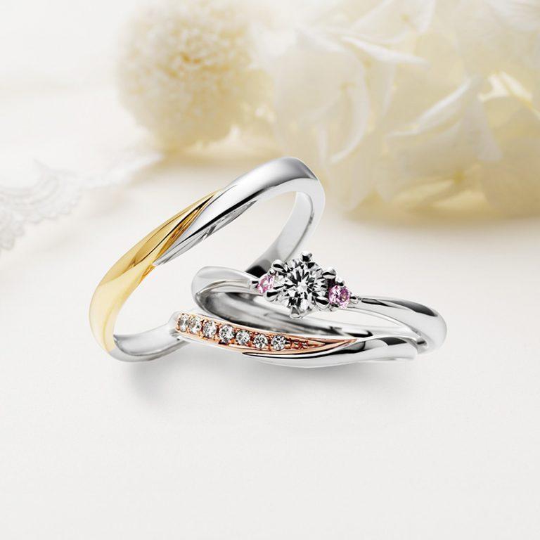 Ange(アンジュ) クワンドゥマリアージュの婚約指輪、結婚指輪のセットリング