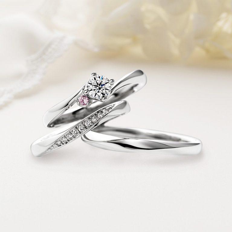 Doux brise(ドゥ ブリーズ)クワンドゥマリアージュ婚約指輪、結婚指輪のセットリング