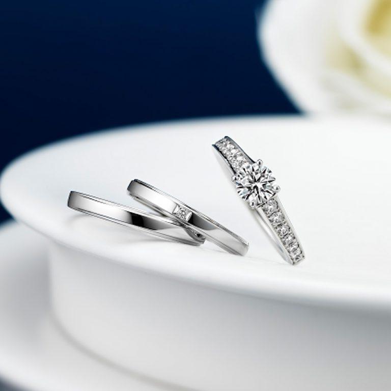 ERA583 WRA013 WRB020|ロイヤルアッシャー婚約指輪・結婚指輪
