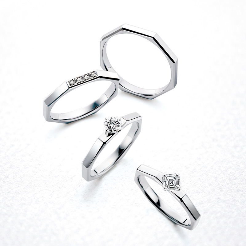 ERA331 AC021 WRA032 WRB047|ロイヤルアッシャー婚約指輪・結婚指輪