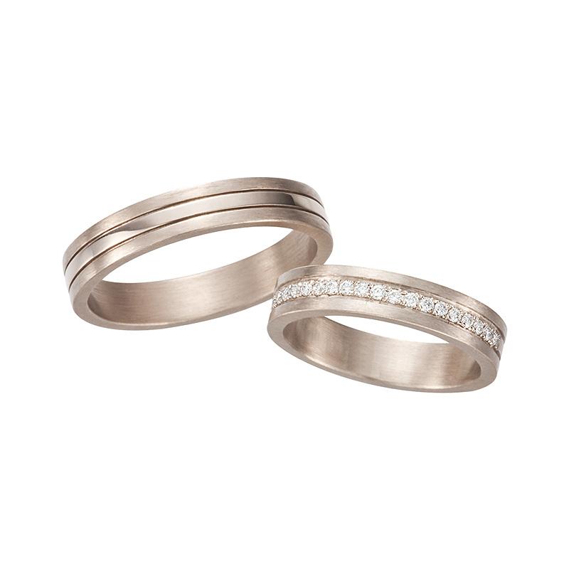 ナチュラルピンクホワイトコンビネーションズリング|AHKAH(アーカー) 結婚指輪