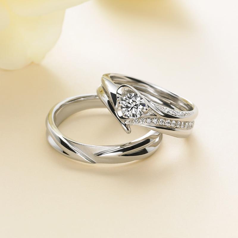 Amour(アムール)マリアージュエントの婚約指輪、結婚指輪のセットリング