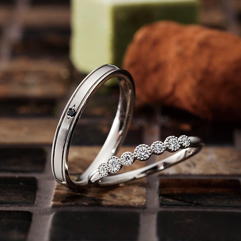 バルーン パヴェオショコラ結婚指輪