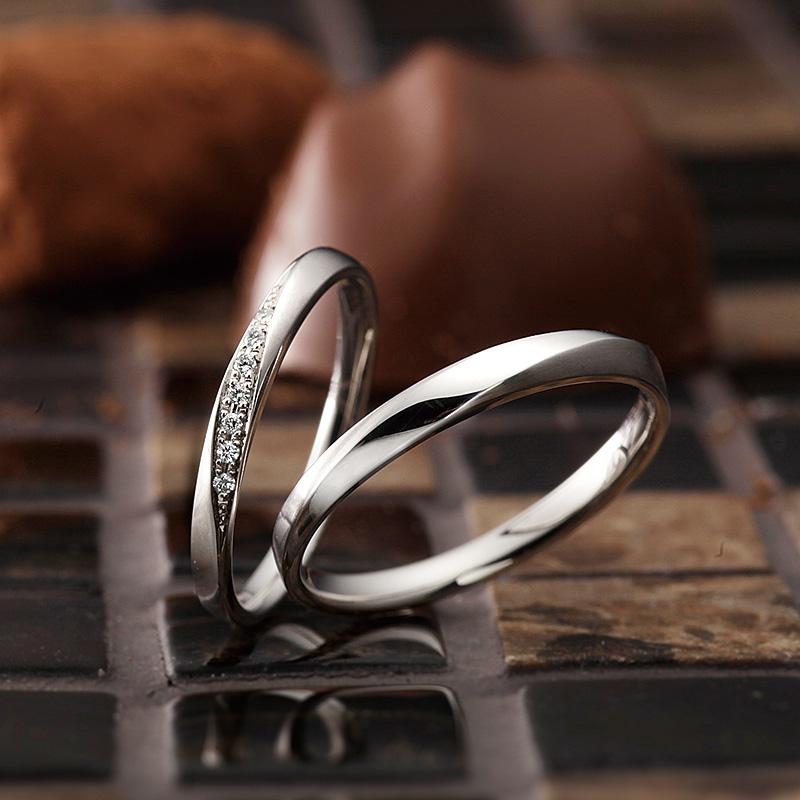 ブリーズ|パヴェオショコラ結婚指輪