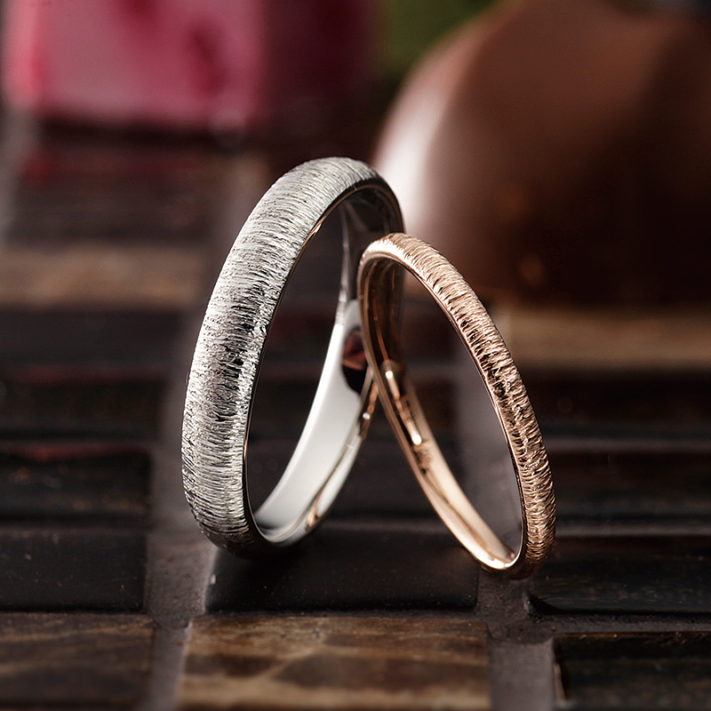 ボーム|パヴェオショコラ結婚指輪