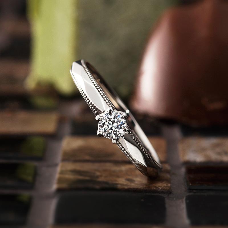 マタン|パヴェオショコラ婚約指輪
