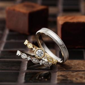 ジョワ|パヴェオショコラ婚約指輪・結婚指輪