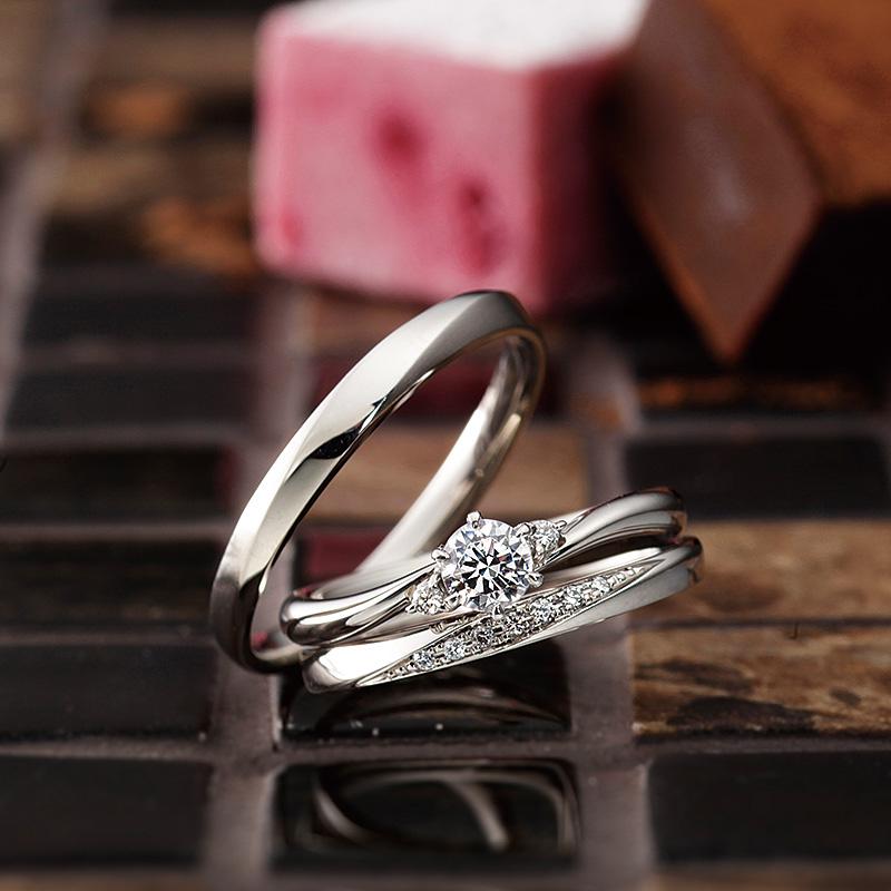 ブリーズ|パヴェオショコラ婚約指輪・結婚指輪
