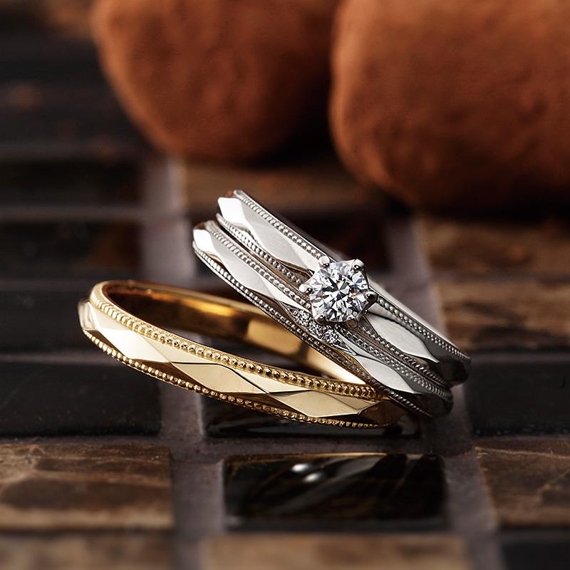 マタン|パヴェオショコラ婚約指輪・結婚指輪