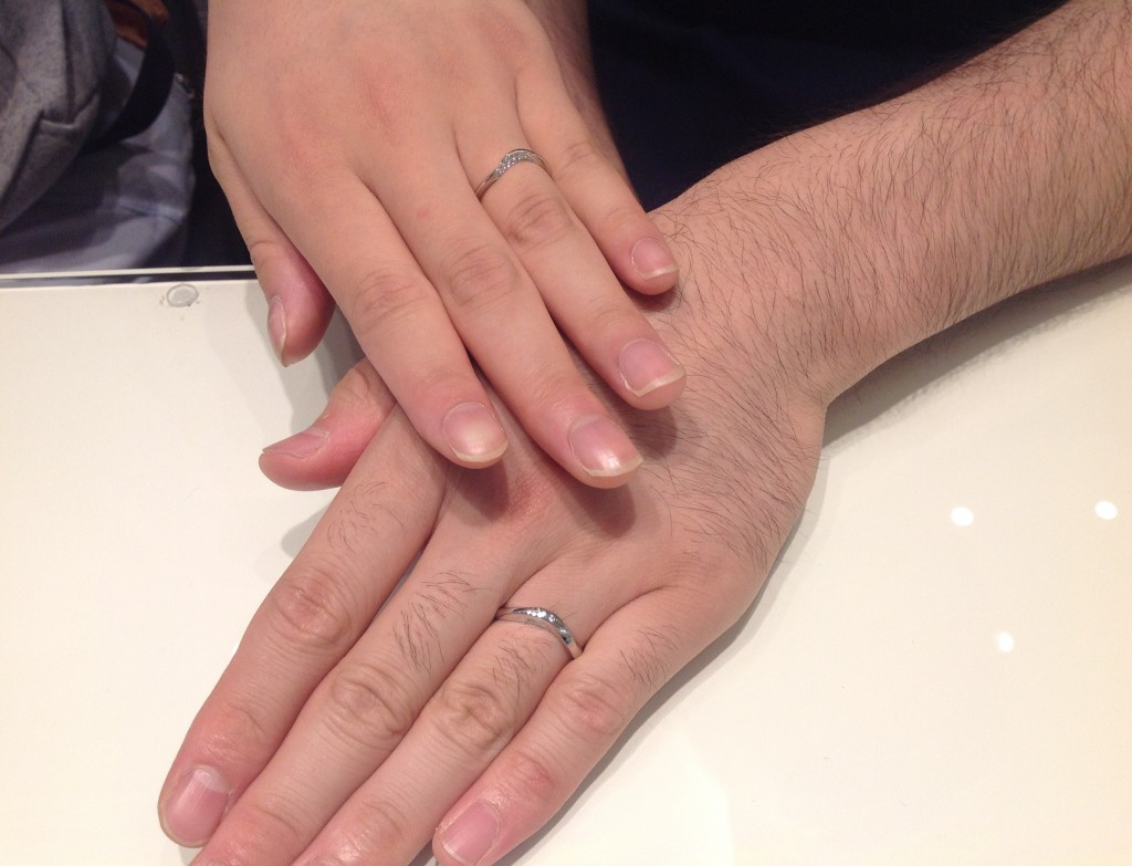 LUCIEの指輪をお作り頂きました!