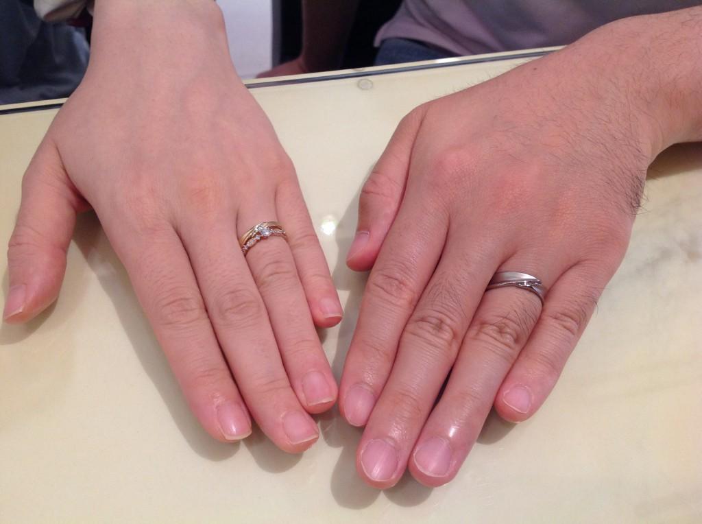 アムールアミュレットの婚約指輪・アフラックスの結婚指輪をお作り頂きました。