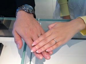 シンデレラの結婚指輪をお作り頂きました。
