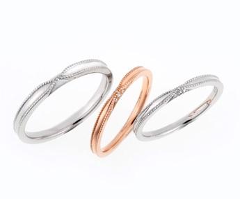 ラブボンドの婚約指輪・結婚指輪をお作り頂きました。