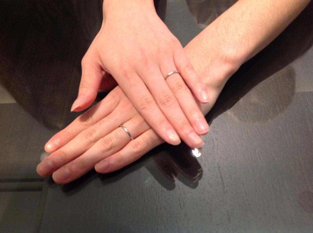 アーカーの結婚指輪「スクレノヴァ・ノヴァ」をお作りいただきました