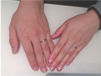 LUCIEの結婚指輪をお作り頂きました。