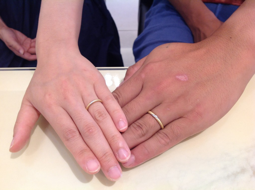 クッカクッカの結婚指輪をお作り頂きました。