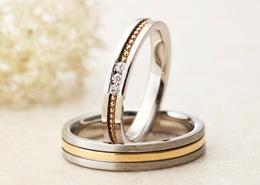 アムールアミュレットの結婚指輪をお作りいただきました。