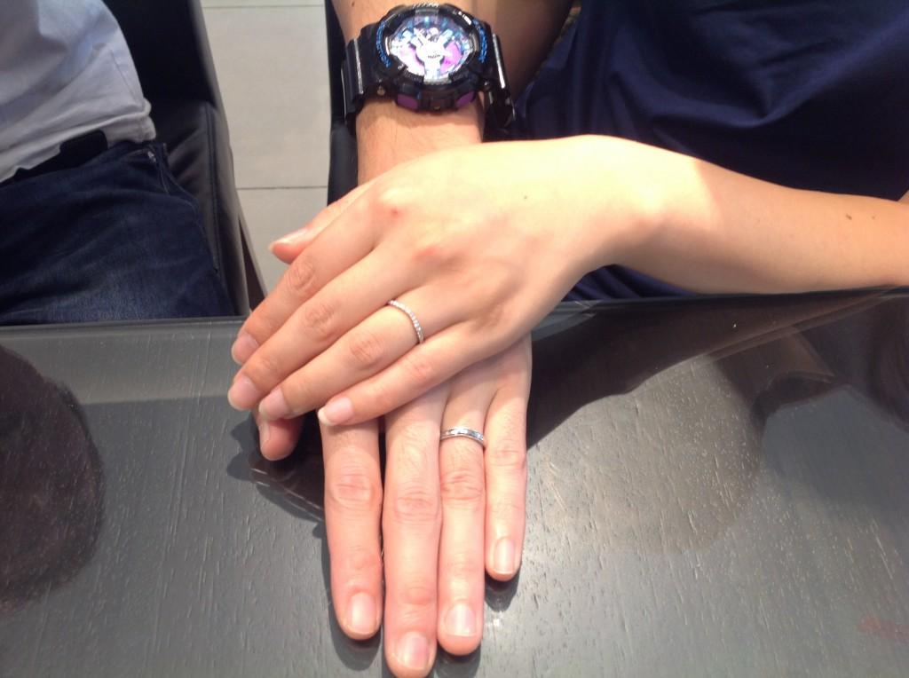 クッカクッカ   ティアラ の結婚指輪をお作り頂きました。