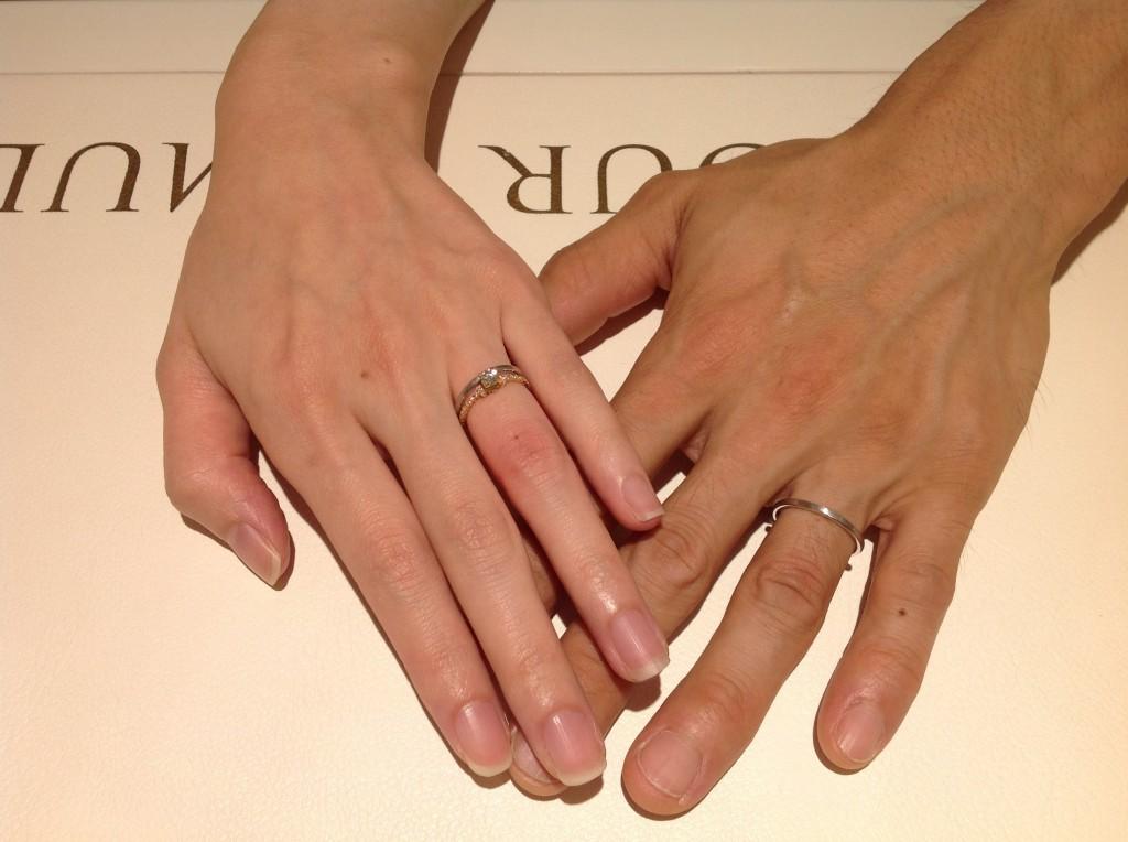 アーカーの婚約指輪・結婚指輪をお作り頂きました。