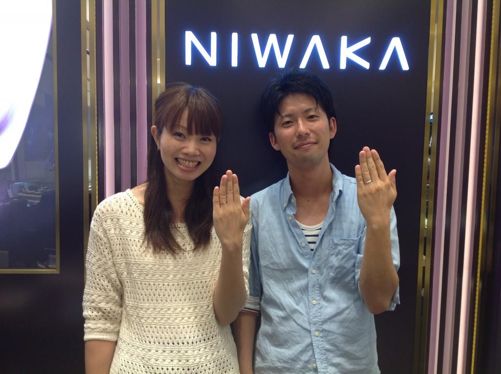 MariageとNIWAKAの結婚指輪をお作り頂きました!