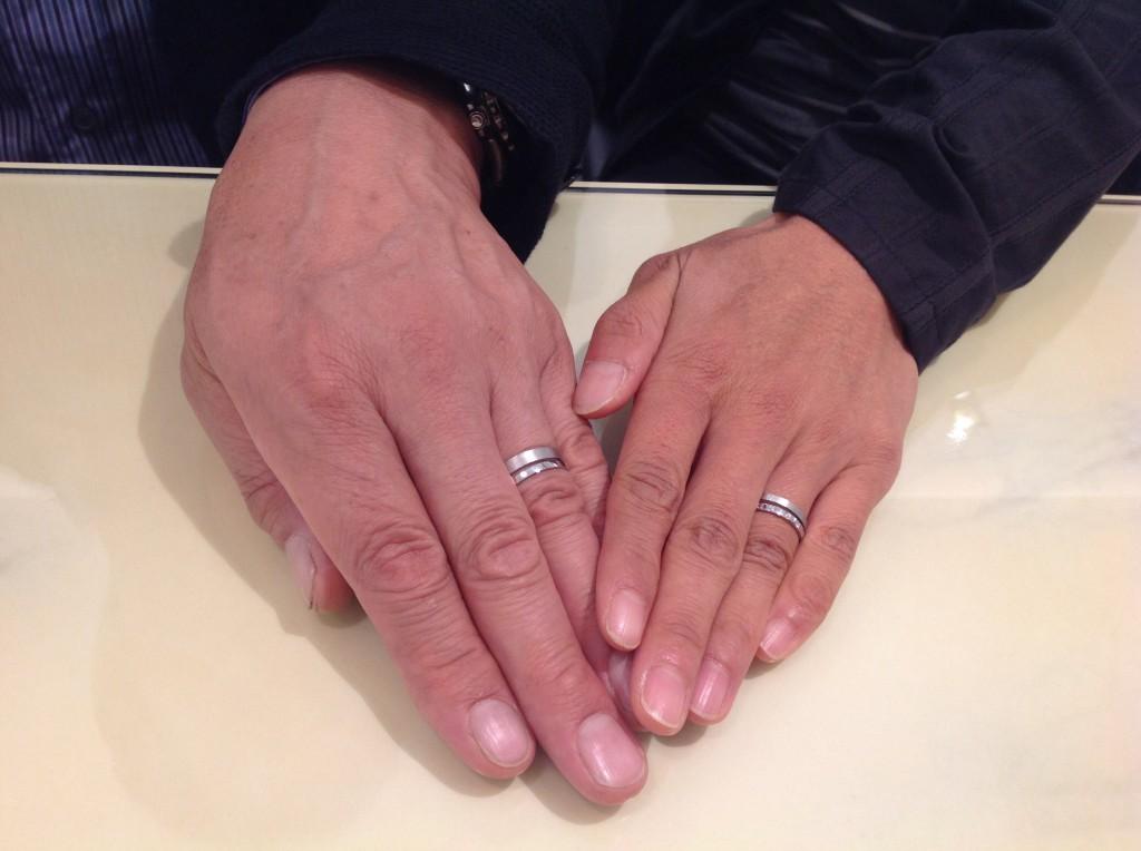 アフラックスの結婚指輪をお作り頂きました。