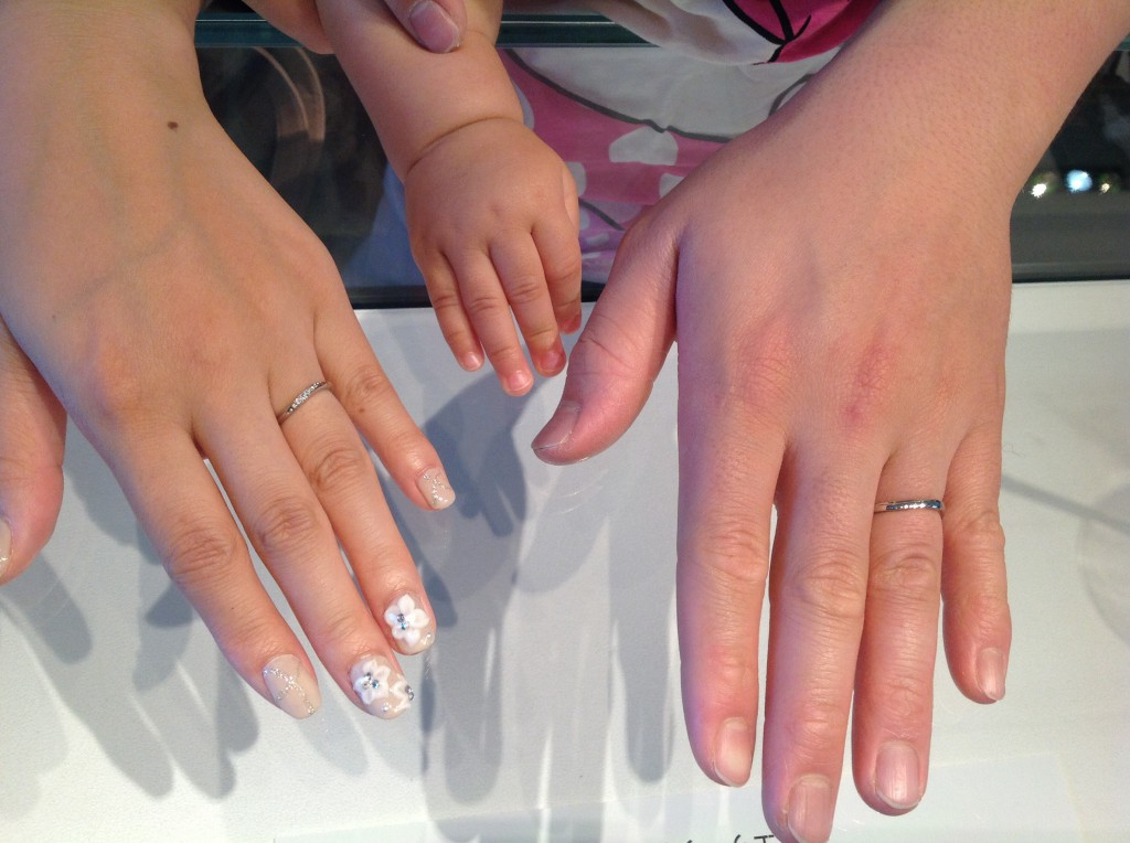 ディズニー シンデレラの結婚指輪をお作り頂きました。