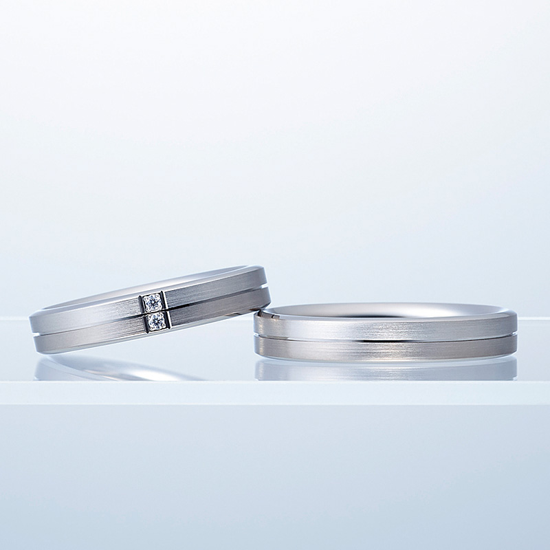 N.Y.NIWAKAの結婚指輪をお作り頂きました。