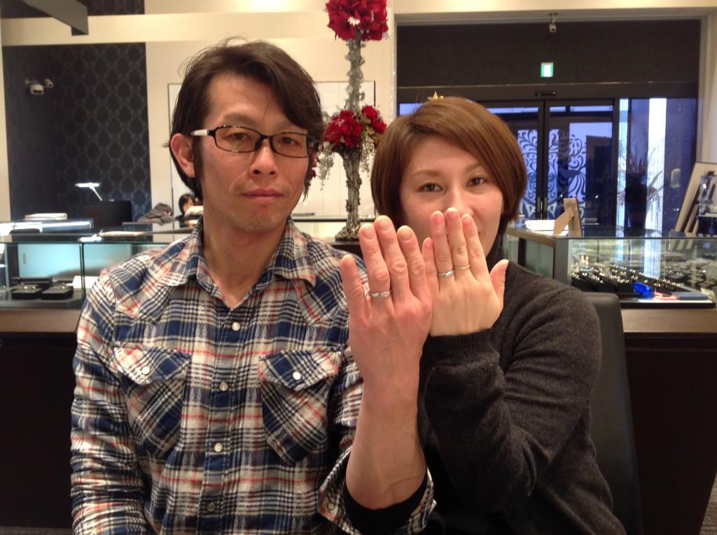 Makanaの結婚指輪をお求めいただきました。