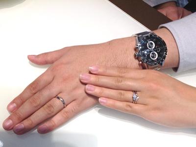 LUCIEの婚約指輪・NIWAKAの結婚指輪をお作り頂きました。