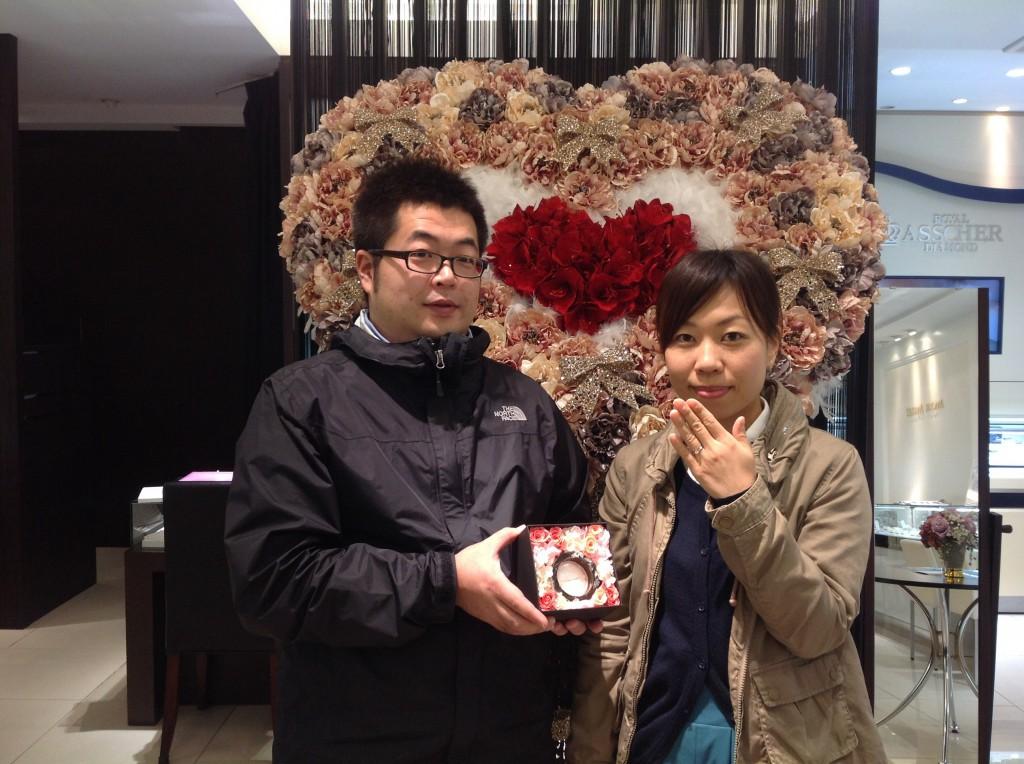 クッカクッカの婚約指輪をお作り頂きました。