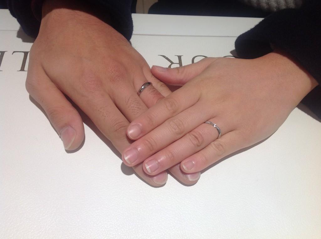 ディズニーシンデレラの結婚指輪をお作り頂きました。