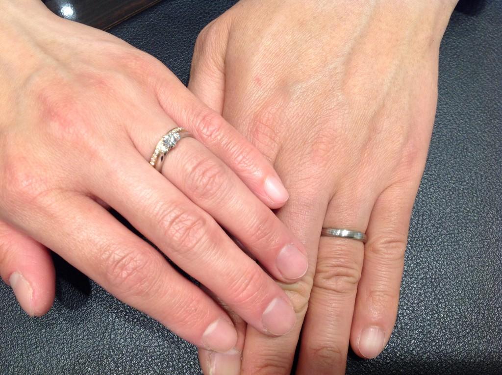 俄の婚約指輪・結婚指輪をお作り頂きました。