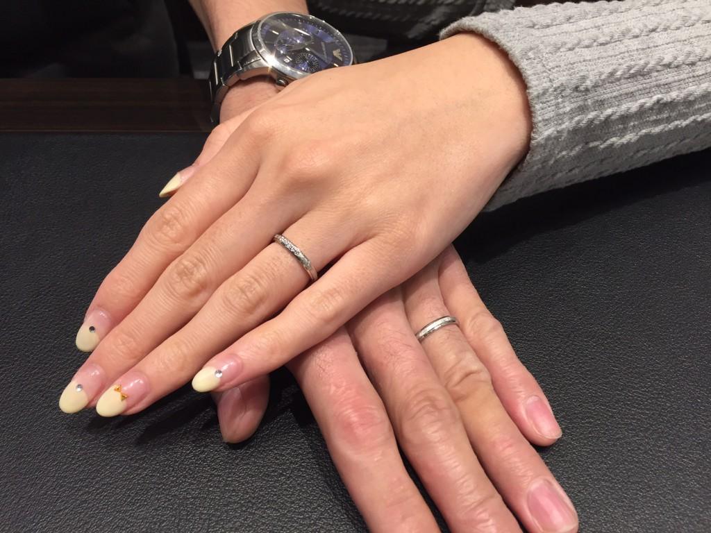 FISCHERの結婚指輪をお作り頂きました。
