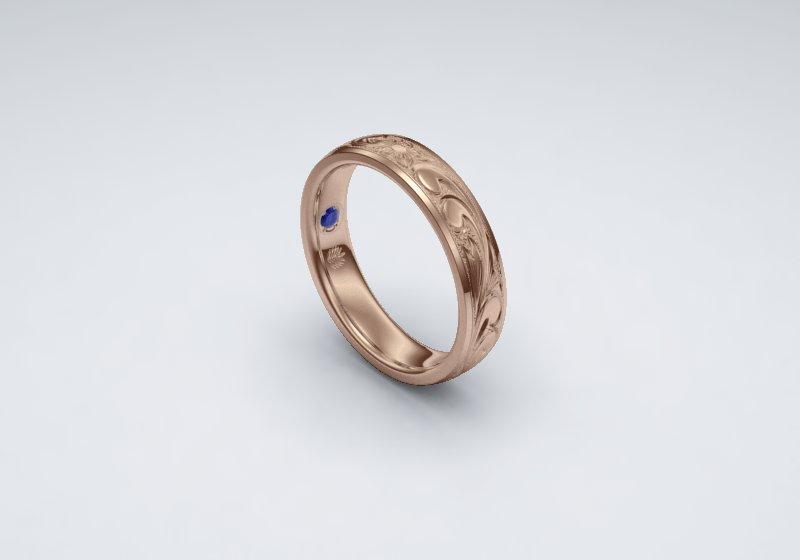 マカナの結婚指輪をお作り頂きました。