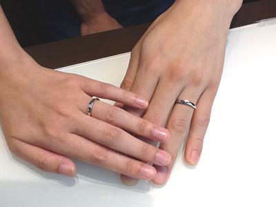 ルシエの結婚指輪をお作り頂きました。