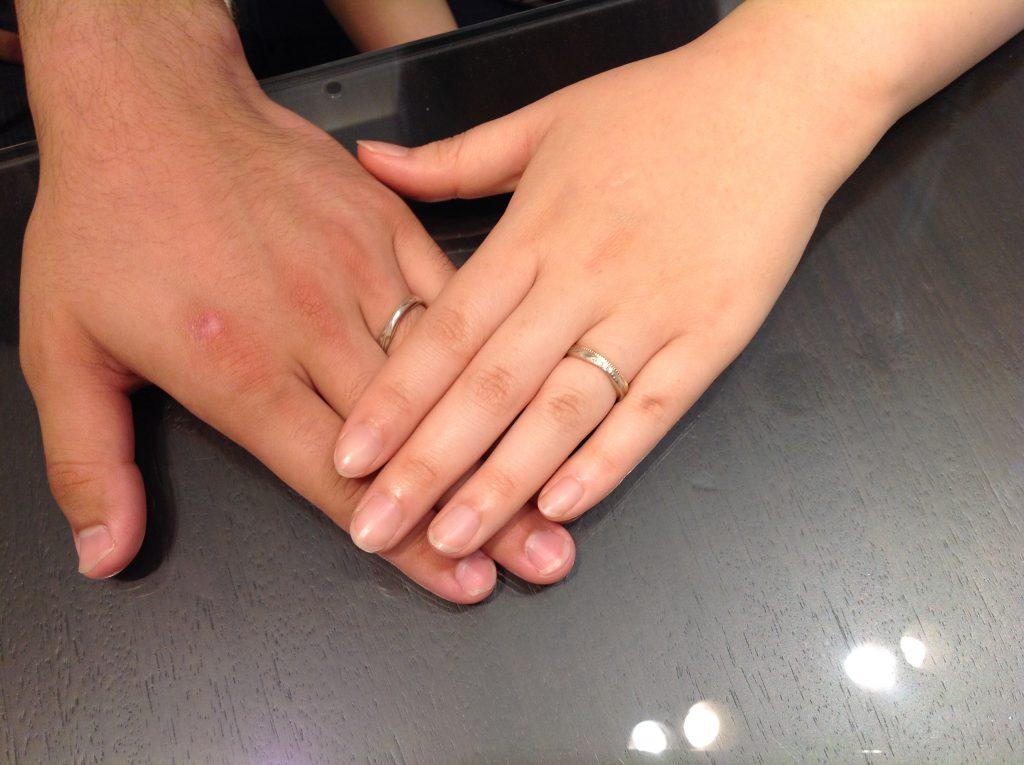 セミオーダーの結婚指輪をお作り頂きました。