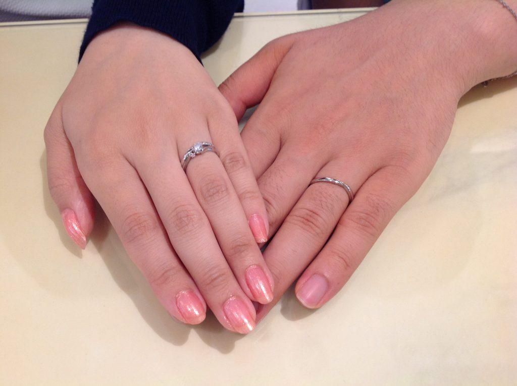 ポンテヴェキオ婚約指輪・結婚指輪をお作り頂きました。