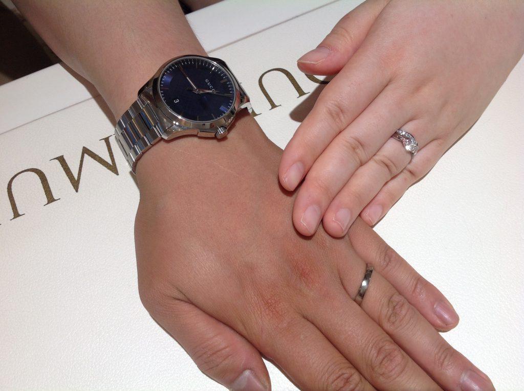 ラブボンドの婚約指輪・俄の結婚指輪をお作り頂きました。