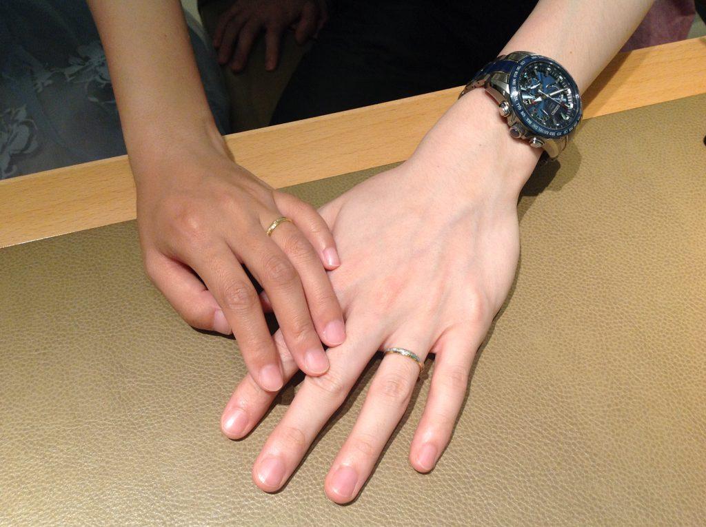 フィッシャーの結婚指輪をお作り頂きました。