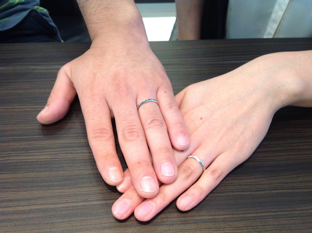 ポンテヴェキオの結婚指輪お作り頂きました。