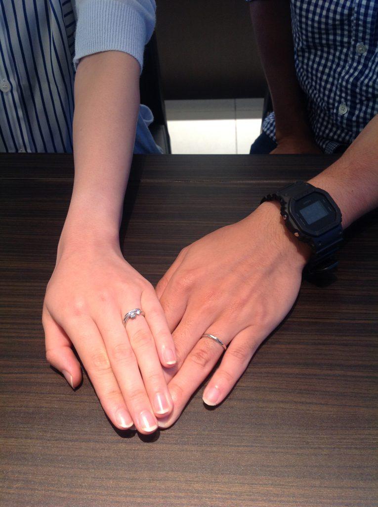 クッカクッカの婚約指輪・結婚指輪をお作り頂きました。