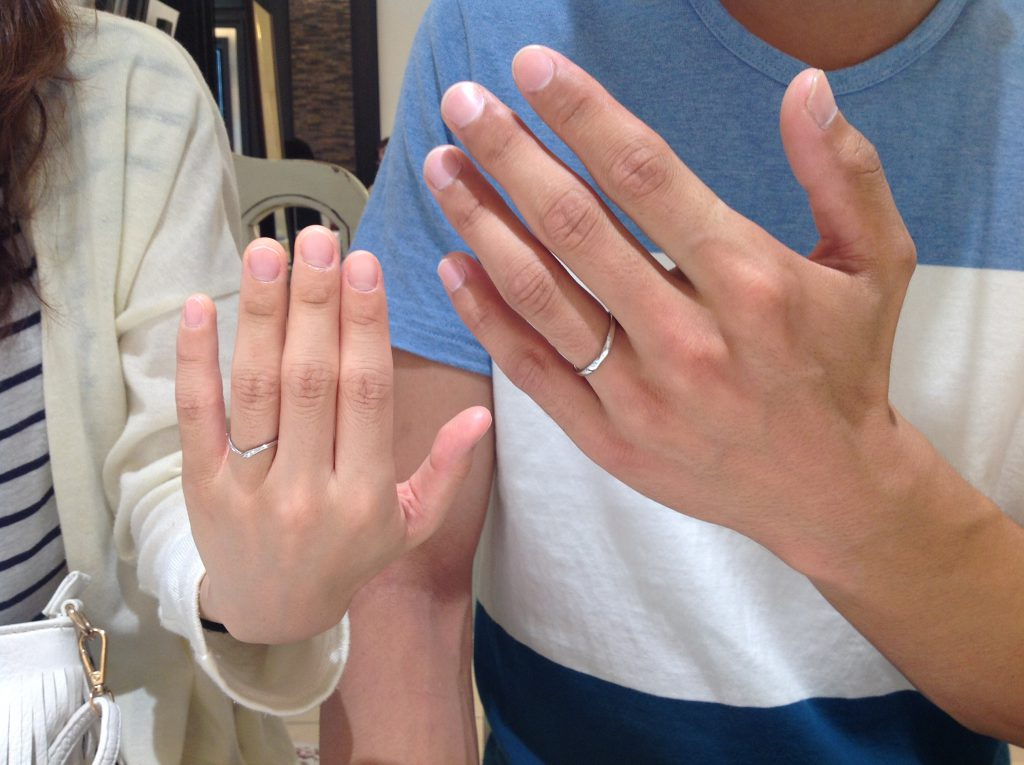 ノクルの結婚指輪をお作り頂きました。