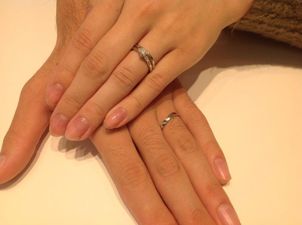 NIWAKAのご結婚指輪をお作り頂きました。