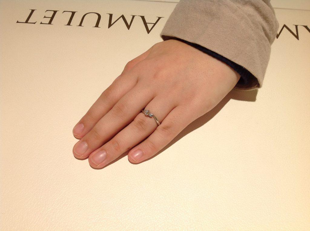 ABEジュエリーの婚約指輪をお作り頂きました。