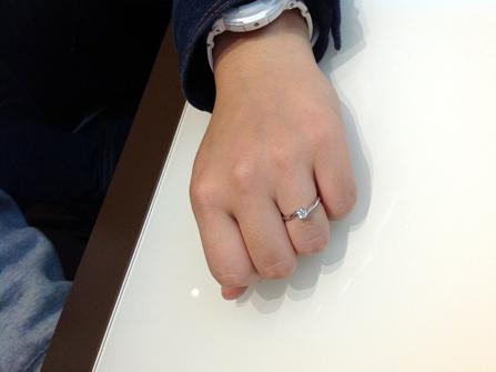 アベジュエリーの婚約指輪をお作りいただきました