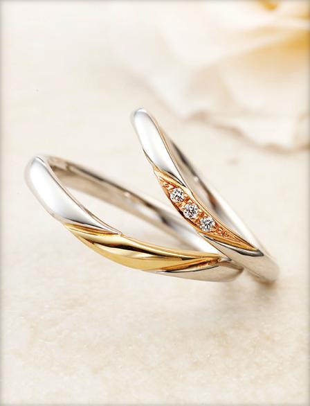 アムール アミュレットの結婚指輪をお作り頂きました。
